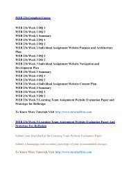 WEB 236 UOP Assignments,WEB 236 UOP Entire Class,WEB 236 UOP Full Class