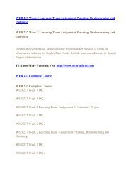 WEB 237 UOP Assignments,WEB 237 UOP Entire Class,WEB 237 UOP Full Class