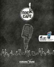 Speisekarte Europa-Park Rock-Café