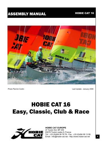 Hobie 16 assembly Manual