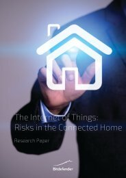 The Internet of Things Risks in the Connected Home