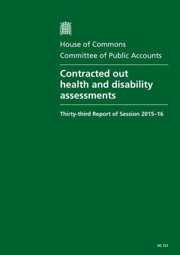Contracted out health and disability assessments