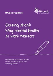 Getting ahead Why mental health at work matters