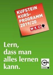WIFI Kufstein Kursprogramm