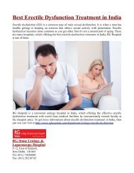 Best Erectile Dysfunction Treatment in India