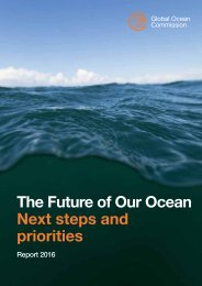 The Future of Our Ocean Next steps and priorities