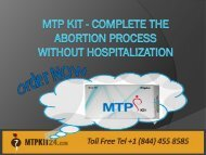 MTP Kit - Complete The Abortion Process Without Hospitalization