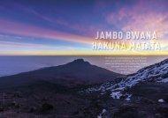Magazin Vorfreude  Kilimanjaro 2016