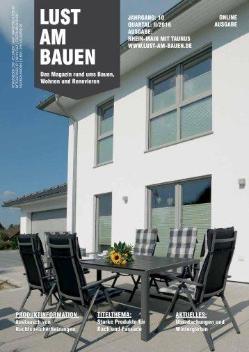 II. Quartal 2016 Rhein-Main mit Taunus - Online Ausgabe