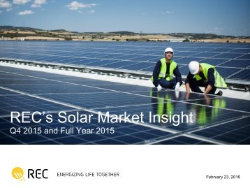 REC's Solar Market Insight