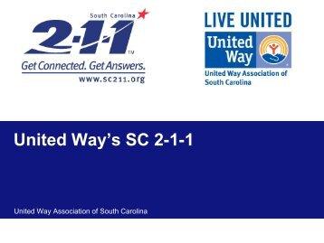 United Way's SC 2-1-1
