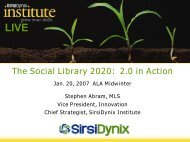 The Social Library 2020:  2.0 in Action - Stephen's Lighthouse
