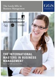 GGS Brochure The International Masters in Business Management