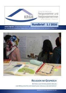 Der Rundbrief 1/2016 Digital-Ausgabe