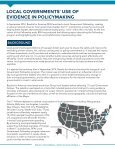 LOCAL GOVERNMENTS' USE OF EVIDENCE IN POLICYMAKING - Page 2