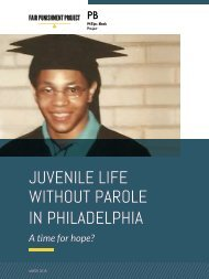 WITHOUT PAROLE IN PHILADELPHIA
