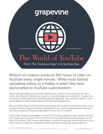 The World of YouTube