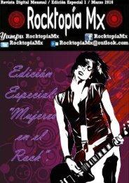 Rocktopía Mx -  Edición Especial 1 - Mujeres en el Rock - Marzo 2016.