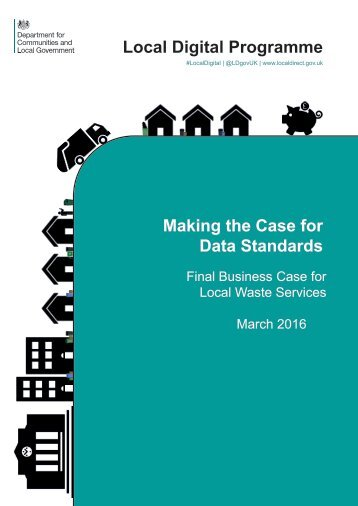 Local Digital Programme Making the Case for Data Standards