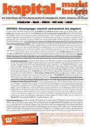 INFINUS: Finanzgruppe erweitert systematisch das Angebot!