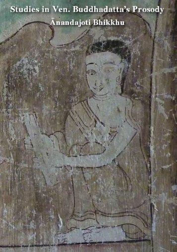 Studies in Ven. Buddhadatta's Prosody