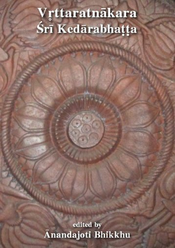 Vttaratnākara composed by Śrīmat Kedārabhaṭṭa (Roman)