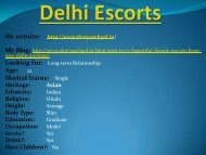Beautiful Female Escorts From New Delhi Anytime