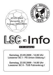 LSC-Info 2008-2009 Ausgabe 10 - Leezener SC