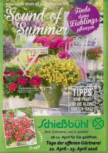 Gärtnerei Schießbühl Katalog 2016