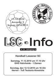 LSC-Info 2010-2011 Ausgabe 5 - Leezener SC
