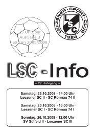 Samstag, 25.10.2008 - Leezener SC