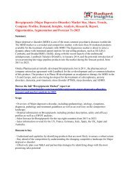 Brexpiprazole (Major Depressive Disorder) Market Analysis and Trends Forecast To 2023