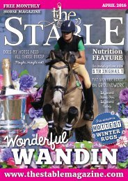 The Stable Magazine - April 2016