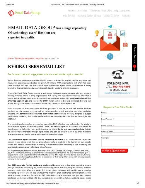Verified List of Kyriba Users Across US