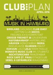Clubplan Hamburg - April 2016