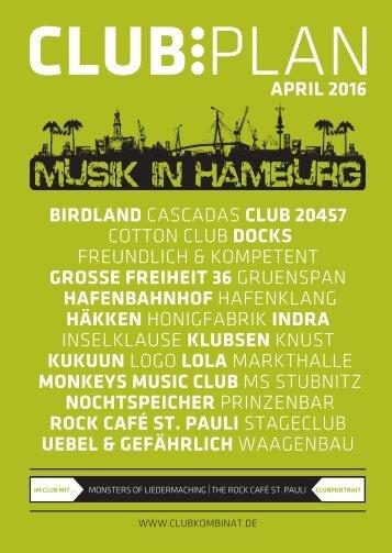 Clubplan Hamburg - April 2016