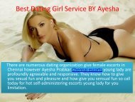 High Level Dating Service in Chennai for Ultimate Fun