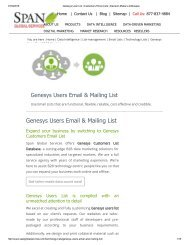 Purchase Taergeted Genesys Customer List from Span Global Services