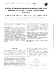 Multiple AV nodal pathways in patients with AV nodal ... - EP Europace