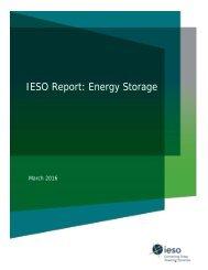 IESO Report Energy Storage