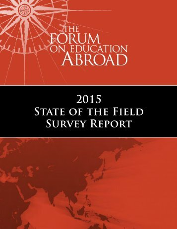 2015 State of the Field Survey Report
