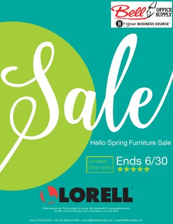 Lorell Hello Spring Sale