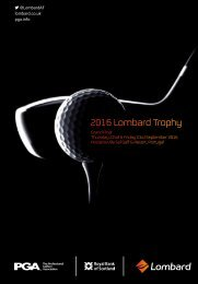 2016 Lombard Trophy