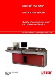 USTER HVI 1000 APPLICATION REPORT ... - Uster Technologies