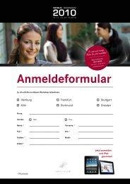 Anmeldeformular - INFINUS