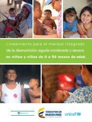 Lineamiento para el manejo integrado de la desnutrición aguda moderada y severa