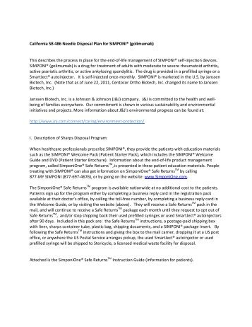 important safety information - Janssen Biotech, Inc.