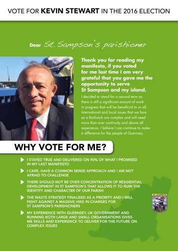 WHY VOTE FOR ME?