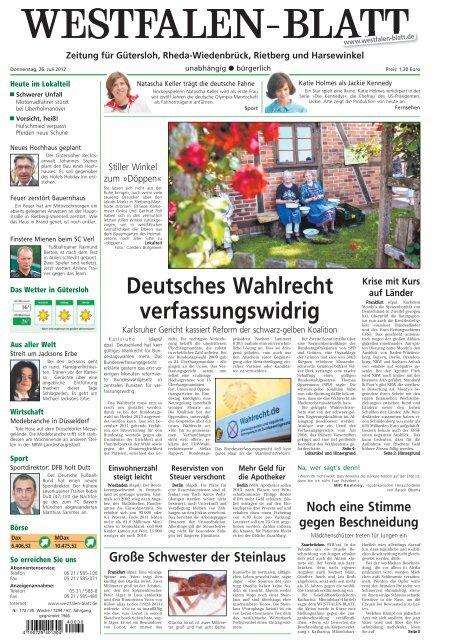 BlattEzeitung Internet Lokalausgaben Im Gütersloh Westfalen Ihre L3R54Ajq