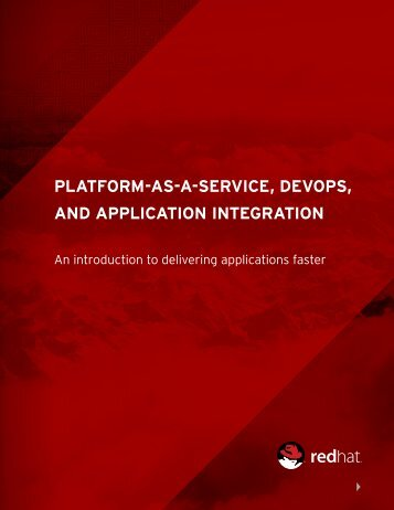 PLATFORM-AS-A-SERVICE DEVOPS AND APPLICATION INTEGRATION